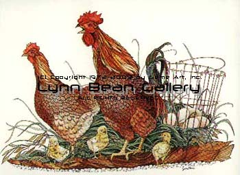 Chickens with Egg Basket.